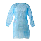 "Signature Blue Isolation Gown, 1/Pk. Universal fit - 38"" length, 49"" width"