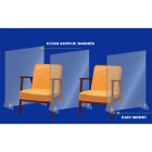Signature Chair Divider Sneeze Guard. Freestanding clear acrylic shield 32""