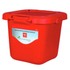 Solmetex Biohazard & Sharps Container Disposal - Red, 20 Gallon with Lid. Items