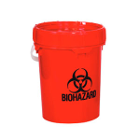 Solmetex Biohazard & Sharps Container Disposal - Red, 5 Gallon with Lid. Items