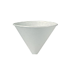 Bare by Solo 6 oz funnel cups, white, paper, 250/sleeve