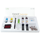 Core-it YELLOW Syringe Kit. Flowable Core Build Up Resin, Dual-Cure: 2 x 10 Gm