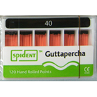 Spident Gutta Percha Points size #40, Hand Rolled / Color Coded, Package of 120