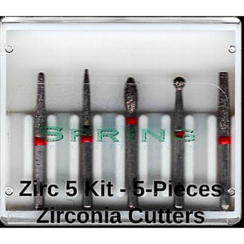 Zirconia 5 piece Kit, 1 each of 772.8, 260.8, 285