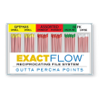 ExactFlow Assorted Gutta Percha Points S/M/L/P, Color Coded, 60 Per Box. Hand