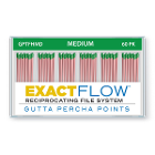 ExactFlow Gutta Percha Points Medium, Color Coded, 60 Per Box. Hand jig rolled