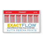 ExactFlow Gutta Percha Points Primary, Color Coded, 60 Per Box. Hand jig rolled