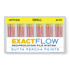 ExactFlow Gutta Percha Points Small, Color Coded, 60 Per Box. Hand jig rolled
