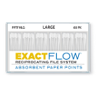 ExactFlow Absorbent Paper Points, Large, Color Coded, 60 Per Box. Made