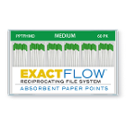 ExactFlow Absorbent Paper Points, Medium, Color Coded, 60 Per Box. Made