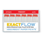 ExactFlow Absorbent Paper Points, Primary, Color Coded, 60 Per Box. Made