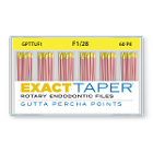 ExactTaper F1 Gutta Percha Points 28mm, 60/Box. Hand jig rolled to produce