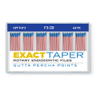 ExactTaper F3 Gutta Percha Points 28mm, 60/Box. Hand jig rolled to produce