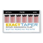 ExactTaper F4 Gutta Percha Points 28mm, 60/Box. Hand jig rolled to produce