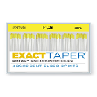 ExactTaper F1 Absorbent Paper Points 28mm, Color Coded, 60 Per Box. Made
