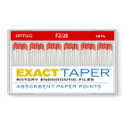 ExactTaper F2 Absorbent Paper Points 28mm, Color Coded, 60 Per Box. Made