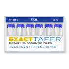 ExactTaper F3 Absorbent Paper Points 28mm, Color Coded, 60 Per Box. Made