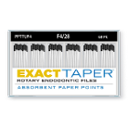 ExactTaper F4 Absorbent Paper Points 28mm, Color Coded, 60 Per Box. Made