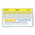 ExactTaper F5 Absorbent Paper Points 28mm, Color Coded, 60 Per Box. Made