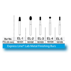 Express Line Lab Metal Finishing Bur FG EL3 10/Pk