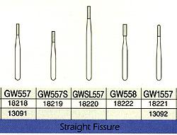 Great White Gold FG #GW557 straight fissure restorative removal carbide bur
