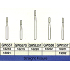 Great White Gold FG #GW557 straight fissure restorative removal carbide bur