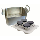 Pro-Sonic Model 1000 Accessory Kit, contains: Full Solid Side Basket, Beaker