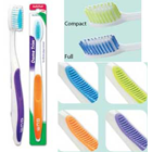 Dome Trim Toothbrush, with soft bristles and compact head. Box of 12