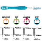 GUM Proxabrush Go-Betweens Cleaner - Wide, Tapered 36/Bx. Ideal for those