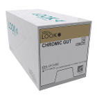 "Look 3/0, 18"" Chromic Gut Absorbable Suture with Reverse-cutting C-6 Needle"