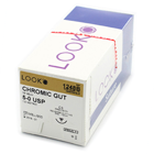 "Look 4/0, 27"" Chromic Gut Absorbable Suture with Reverse Cutting C-6"