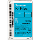 SybronEndo K-Files 25mm #10 6/Box. Stainless Steel
