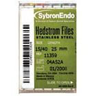 SybronEndo #20, 25mm Hedstrom Files 6/Box. Stainless Steel