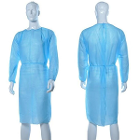 T&P Blue Disposable Isolation Gowns, Non-woven w/Elastic Cuffs, 50/Pk