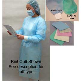 Starryshine Isolation Gown with Elastic Cuff - Pi