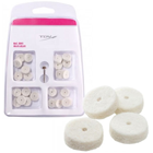 TDV Impregnated Felt Wheels - 12mm, 24 Wheels. Felt discs with abrasive