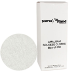 "JR Rand 3"" Round Amalgam Squeeze Cloth, Box of 50"