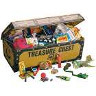 JR Rand Treasure Chest with 200 Toys. Assorted fun small toys that kids love