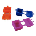 Temrex Tooth Saver Chests, 144 Pk. Assorted colors. Small, plastic treasure