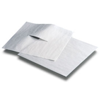 "Fabricel 10"" x 10"" White Tissue/Poly Headrest Covers, Box of 500"