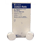 "Tidi 6"" x 3/8"", #2 Medium diameter Non-Sterile Plain Wrapped Cotton Rolls, Box"