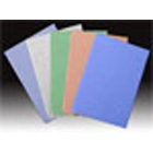 "Tidi Patient Bibs BLUE 17"" x 18"" 3-Ply Paper/1-Ply Poly 500/Cs. Plain Rectangle"