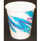 Tidi Jazz Pattern 5 oz. Waxed Paper Drinking Cups, Case of 1000