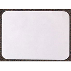 "Tidi 10-1/4"" x 15-3/4"" S.S. White ""D"" - White Heavyweight Paper Tray Cover, Box"