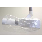 "Tidi 15"" x 26"" X-Ray Head Protectors, Clear, Box"