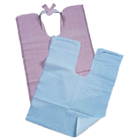 "Tidi Blue Contour Neck Patient Bibs with Neck Tie (18"" x 25"") 1 Ply Paper/1 Ply"