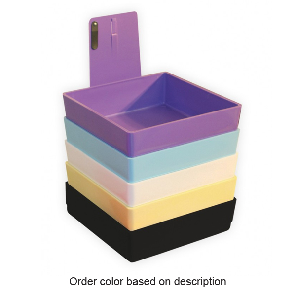 Tiger's Plastics Large Lab Pans, Purple - w/ Stainless Steal Clip. 1/Box. Size