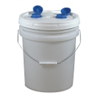 Tiger's Plastics Disposable Refill Plaster Trap- 3 1/2 Gallon with Lid and two