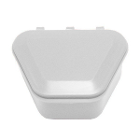 "Tiger's Plastics 1-3/4"" Denture Box - White, 150/Box. Denture Storage Cases"