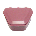 "Tiger's Plastics 1-3/4"" Denture Box - Dusty Rose, 300/Box. Denture Storage"